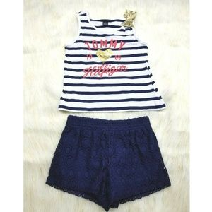 Tommy Hilfiger Nautical 2pc Outfit Navy & White